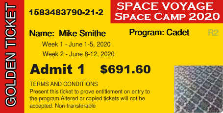 Space Voyage New BoxOffice Ticket and Registration System